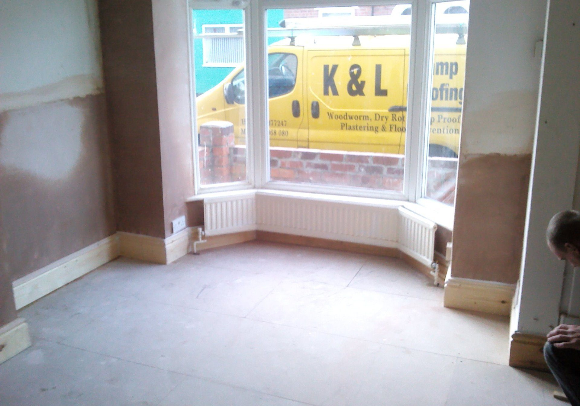 Damp proofing living room